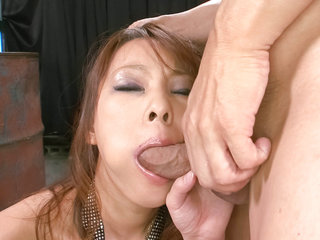 Sexy Asuka gobbles a hard cock and is fucked hard doggie-style