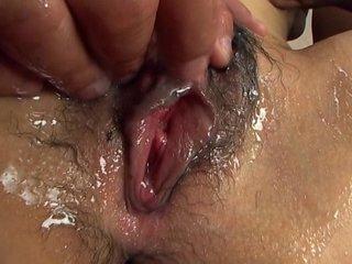 Megumi Haruka has tits fondled and pussy play